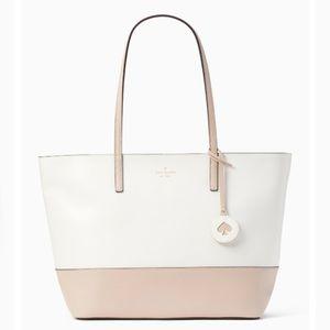 Kate Spade ♠️ NWT White and Beige Tote Bag